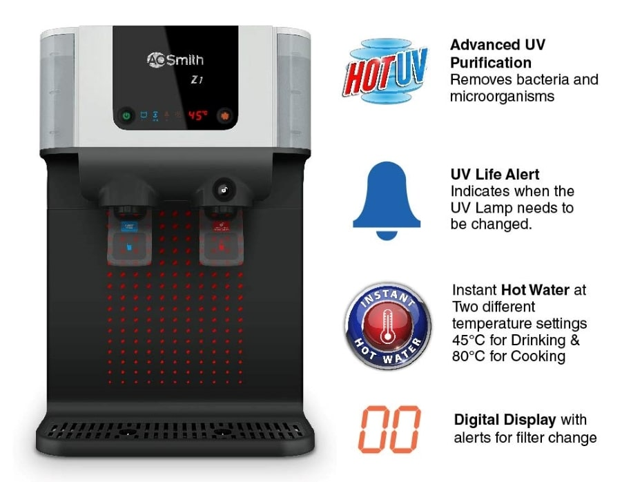 ao smith uv water purifier