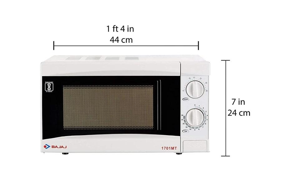 bajaj 17 l solo microwave oven